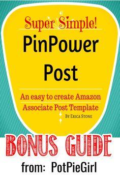 Amazon affiliate blogging tips - new Bonus Guide from PotPieGirl Business Advice, Online Business, Make Money Blogging, How To Make Money, Core Curriculum, Multi Level Marketing, Blogger Tips, Pinterest Marketing, Affiliate Marketing
