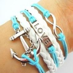 Aqua Multi Strand Bracelet – All Things Country