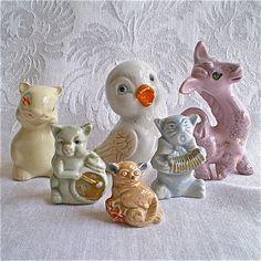 Figurines Miniature Animals Bird Miniatures by vintagedottirose