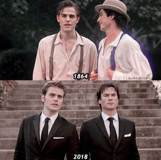 The Salvatore brothers Stefan and Damon.