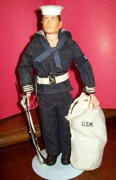 "GI Joe - Vintage 12"" Hasbro Navy Figure - 1960's"