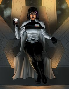 Star Wars-based OC commissioned by Slagatastic. Selika on the Throne (Commission) Star Wars Characters Pictures, Star Wars Pictures, Star Wars Images, Star Wars Sith, Star Wars Rpg, Star Trek, Star Wars Concept Art, Star Wars Fan Art, Imperial Officer