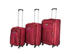 3 PC. set. luggage. CH-205 in Dark Red.  #TravelinStyle #ChariotTravelware