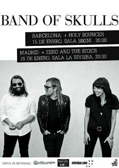 Band of Skulls +  Holy Bouncer en Barcelona el 15 de enero 2015 en notikumi