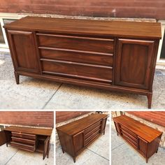 #MidCentury #DanishModern #Walnut #Sideboard #Credenza -Click On Link For All Info