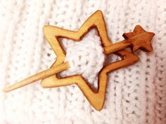 Wooden Shawl Pin Wood Brooch Wood Scarf Pin Women Gift