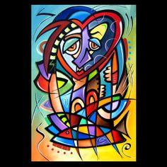 Art: Cubist 118 2436 Original Cubist Art Mirror Mirror by Artist Thomas C. Fedro