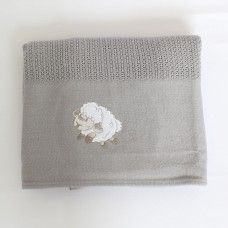 Counting Sheep Cellular Cotton Baby Blanket (grey). Available online at http://www.babesandkids.co.za