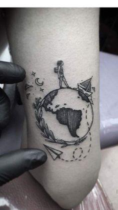 wunderschöne Weltkarten- und Globus-Tattoos – tattoo inspiration – beautiful world map and globe tattoos – tattoo inspiration – Model Tattoos, Mini Tattoos, Trendy Tattoos, Unique Tattoos, Leg Tattoos, Body Art Tattoos, Sleeve Tattoos, Beautiful Tattoos, Hamsa Tattoo