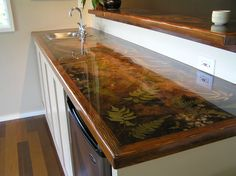 Custom resin countertop More