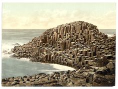 The Honeycombs, Giant's Causeway. County Antrim, Ireland