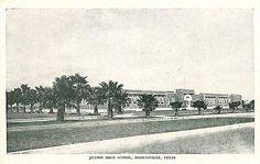 Brownsville Texas TX 1940s Junior High School Antique Vintage Postcard