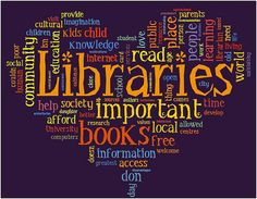 We think the library is a great place to find information, books, movies and music. They are also a place to use computers, or just hang out with friends. Check out links to see what other people have to say about libraries. Library Week, Library Lessons, Library Books, Library Ideas, Library Signs, Local Library, County Library, Library Programs, Library Pictures