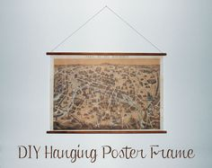 DIY Hanging Picture Frame