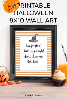 Free Printable Halloween Wall Art | I'm so glad I live in a world where there are Octobers. Halloween Crafts For Kids, Halloween Projects, Diy Halloween Decorations, Holidays Halloween, Halloween Themes, Halloween Diy, Fun Crafts, Fall Decorations, Diy Projects