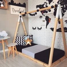 How cute is this custom bed design by our friends from 😍 Bravo Kids Room Design, Bed Design, Baby Room Decor, Bedroom Decor, Diy Toddler Bed, Pallet Toddler Bed, Baby Boy Rooms, Kid Beds, Kids Decor