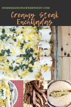 Creamy Steak Enchiladas - Homemade on a Weeknight