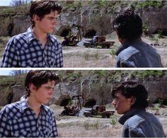 """""""Act like a farm boy takin a walk or somethin."""" """"Do I look like a farm boy to you?"""""""