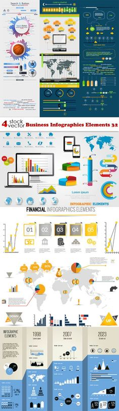 Vectors - Business Infographics Elements 32