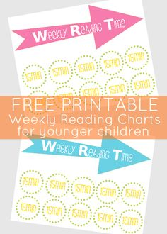 free printable weekly reading charts for younger children