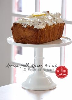 Lemon Pull Apart Bread with tangy cream cheese icing! Looks delicious!!