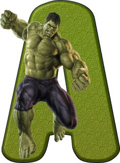 Alfabeto Decorativo: Alfabeto - Hulk 1 - PNG - Letras - Maiúsculas - DO...