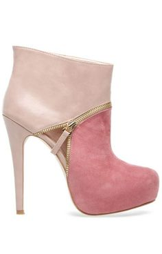 Blush Color Block Booties                                                                                                                           ᖽ•Ꮰ੬ℕട❜̋ᗷѳꂷɬίǪṳ̈ℯ•ᖾ