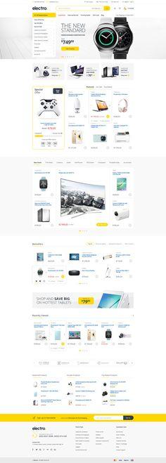Electro - Electronics eCommerce PSD by bcubepl on DeviantArt