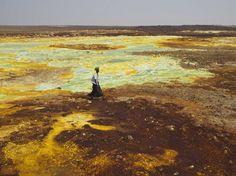 Depressão Danakil, no deserto de mesmo nome, na Etiópia  Leia mais em: 25 das paisagens mais surreais da Terra - Metamorfose Digital http://www.mdig.com.br/index.php?itemid=29483#ixzz3dcej1a92