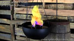 Table Top/Hanging Flame Light Demonstration $25