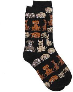 K. Bell Women's Dogs Crew Socks  #ad