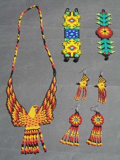 Mexican Art | Huichol Jewelery - Latin - Mexican Folk Art Craft