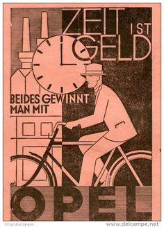 Original-Werbung/Inserat/ Anzeige 1928 - OPEL FAHRRÄDER ca. 90 X 130 mm
