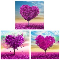 35*35cm Love Tree DIY Diamond Painting Cross Stitch Rhinestone-pasting Embroidery Paintings Craft Needlework without frame #Affiliate
