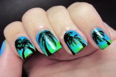Nail Wish: SummerNails Challenge #8: Palmeras/Palm Trees