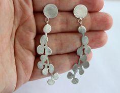 blossom earrings, sterling silver, handmade