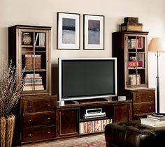 Logan Media Suite with Towers | Pottery Barn