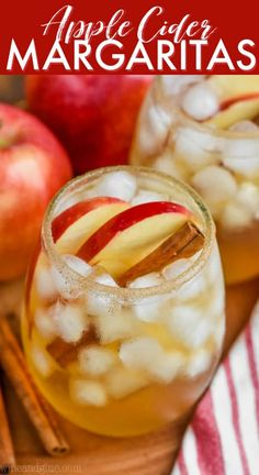 These Apple Cider Margaritas are super simple, but perfectly delicious for fall! They are the perfect cocktail to make for a fall party! I'm kind of obsessed with all things margarita and I love this hard cider and tequila apple margarita. If you are looking for a fall themed margarita, this is it! Best Apple Cider, Apple Cider Drink, Spiked Apple Cider, Apple Vodka, Hard Apple Cider, Spiced Cider, Whiskey Punch Recipe, Fall Drinks, Holiday Drinks