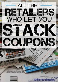 How to Stack Coupons to Maximize Savings: Which Retailers Let You Stack Coupons - wow!, this post has a ton of info on the art of stacking coupons! Lots of stores are listed, their rules on stacking coupons and tips on how to maximize your savings - via Extreme Couponing, How To Start Couponing, Couponing For Beginners, Couponing 101, Save Money On Groceries, Ways To Save Money, Money Tips, Money Saving Tips, Groceries Budget