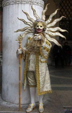 In Venice, Italy . the carnival begins on February 2014 . The Sun King. - In Venice, Italy … the carnival begins on February 2014 … The Sun King. Our tips for …, # - Venice Carnival Costumes, Venetian Carnival Masks, Mardi Gras Carnival, Carnival Of Venice, Venetian Masquerade, Masquerade Ball, Masquerade Theme, Venetian Costumes, Masquerade Costumes
