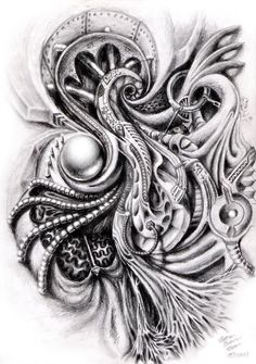 Biomechanical Shoulder Design by ZenBenZen.deviantart.com on @deviantART