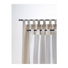 "LENDA Pair of curtains with tie-backs - light beige, 55x118 "" - IKEA"