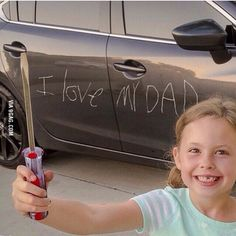 She surely love her dad
