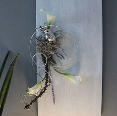 Cool WD Gro es Kokosblatt als Wanddeko Gro es Kokosblatt nat rlich dekoriert mit einer gro en Edelstahlkugel Gr e cacm kann waagrecht und se u