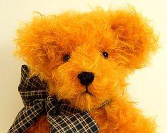 Maxwell- OOAK Mohair Artist Teddy Bear,  jointed teddy bear, gold mohair teddy bear, stuffed teddy bear, artist bear by TeddyBears&Company