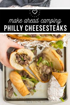This freezer meal Philly cheesesteak recipe is the BEST! Thinly sliced steak, peppers and onions smothered in provolone cheese - perfect for camping trips! Chicken Freezer Meals, Freezer Friendly Meals, Healthy Freezer Meals, Healthy Gluten Free Recipes, Foods With Gluten, Real Food Recipes, Boneless Ribs, Cheesesteak Recipe, Philly Cheesesteaks