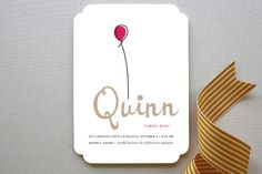 Up Up and Away Balloon Children's Birthday Party Invitations by kelli hall at minted.com