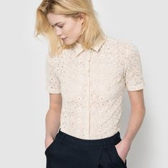 Image Short-Sleeved Broderie Anglaise Shirt R studio