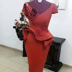 Piece of art by African Lace Styles, African Lace Dresses, African Fashion Dresses, Elegant Dresses, Sexy Dresses, Evening Dresses, Short Dresses, African Attire, African Wear