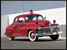 1947 Dodge Fire Chief Coupe Straight on-the-tree Police Truck, Police Cars, Dodge, Fire Dept, Fire Department, Ambulance, Cool Fire, Rescue Vehicles, Fire Equipment